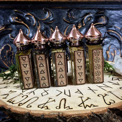 Element Oil Set of 5~ Earth ~ Air ~ Fire ~ Water ~ Spirit ~ Element Magick ~ Elemental Magick ~ Earth Witch ~ Sea Witch ~ Witchcraft ~1/2 oz - Moon Goddess Magick Apothecary