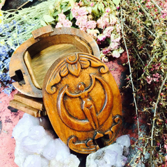 Wood GODDESS Box~ Puzzle Box~ Stash Box~ Goddess ~ Magick ~ Spell Box ~ Moon Goddess - Moon Goddess Magick Apothecary