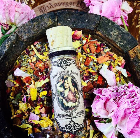 Midsummer Incense~ Litha ~ Summer Solstice ~ Loose Incense~ 1oz Pagan Wheel of the Year ~ Witchcrafted - Moon Goddess Magick Apothecary