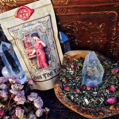 Moon Time Tea ~ Organic Herbal Tea ~ Menstrual Tea ~ Ease and Regulate your Moon Cycle ~ Moon Goddess Magick ~ Wax Sealed ~ - Moon Goddess Magick Apothecary