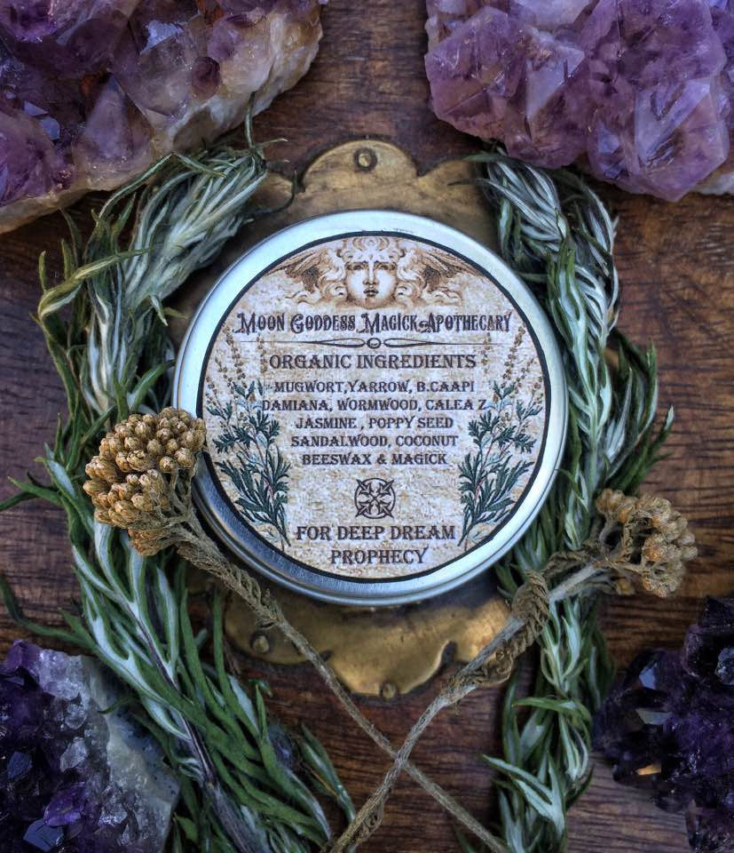 Morpheus Dream Salve~ Deep Dream Prophecy~ Dreamwork ~ Dreams ~ Dream Magick~ Salve ~ Organic Dream Salve - Moon Goddess Magick Apothecary