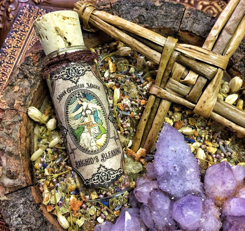 Imbolc Brighid's Blessings~ Goddess Incense~ Imbolc Incense~ Honor Brighid and her Sacred Flame ~ Imbolc Magick ~ 1oz jar - Moon Goddess Magick Apothecary
