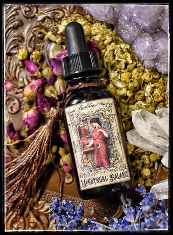 Menstrual Balance~ Regulate your Cycle~ Align with your True Cycle~ Organic Essential Oils and Carrier~ Moon Cycle~ One oz bottle with dropper - Moon Goddess Magick Apothecary