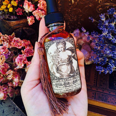 Ritual Hair and Body Oil~ Organic Lavender and Rose~ Ancient Beauty Secrets~ Daily Beauty Ritual~ Huge 2oz Bottle with Dropper~ Beauty Oil - Moon Goddess Magick Apothecary