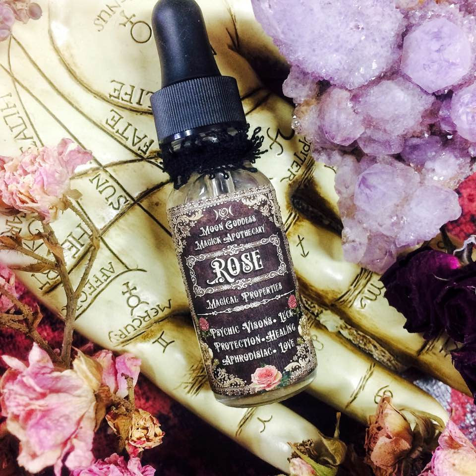 ROSE Essential Oil~ Healing, Love and Protection Magick~ Flower of Life~  Venus Oil ~ Goddess Oil ~ Rose Oil ~ ~ 20% Diluted Rose Oil
