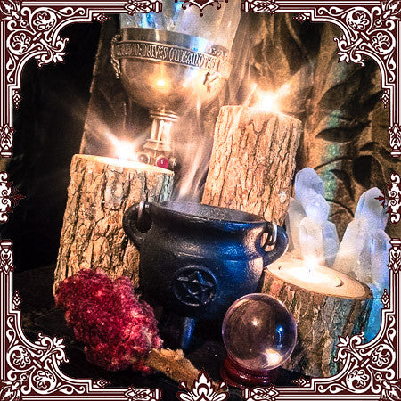 "Cast Iron Pentacle Cauldron with Lid 4""H x 3""D ~ Cauldron ~ Perfect for Loose Incense and other Burnables~ Smudge Pot - Moon Goddess Magick Apothecary"