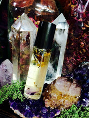 Sleeping Beauty Oil ~ Lavender ~ Chamomile ~ Amethyst Crystal ~ Relaxation and Dream Recall ~ Sleep Aid~ Calming Oil - Moon Goddess Magick Apothecary