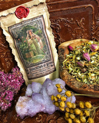 The Invocation of Spring ~ Organic Spring Tea ~ Spring Offering ~ Ostara Ritual Tea ~ Ostara Magick ~ 2oz of Organic Fragrant Tea ~ - Moon Goddess Magick Apothecary