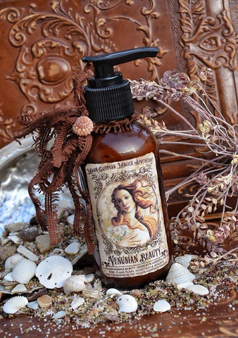 Venusian Beauty ~ Aphrodite Bronzing Shimmer Lotion ~ Venus ~ Aphrodite ~ Goddess of Love and Beauty~ 4oz ~ Scented with Essential Oils - Moon Goddess Magick Apothecary