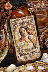 Venusian Beauty ~ Aphrodite Golden Shimmer Lotion ~ Venus ~ Aphrodite ~ Goddess of Love and Beauty~ 4oz ~ Scented with Essential Oils - Moon Goddess Magick Apothecary
