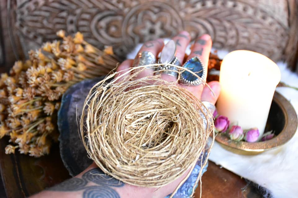 Vetiver Root Exfoliating Scrubber ~ All Natural Fragrant Ritual Body Care ~ Ritual Bath ~ Prosperity, Love and Healing Magick - Moon Goddess Magick Apothecary