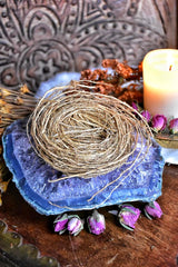 Vetiver Root Exfoliating Scrubber ~ All Natural Fragrant Ritual Body Care ~ Ritual Bath ~ Prosperity, Love and Healing Magick