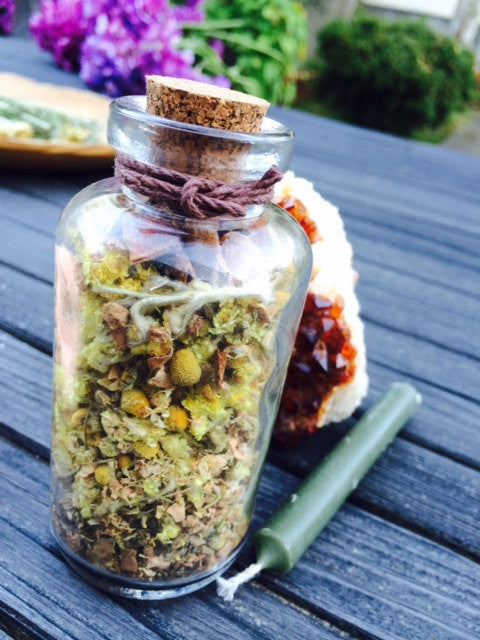 Witches Bottle of Abundance~Spell Kit ~ Wax Seal~ Old World Witchcraft~  Magick~Moon Goddess Magick~