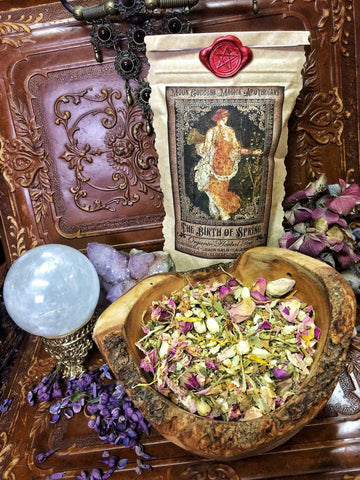 The Birth of Spring~ Organic Spring Tea ~ Spring Offering ~ Ostara Ritual Tea ~ 2oz of Organic Fragrant Tea ~ 11-13 cups of Sunshine - Moon Goddess Magick Apothecary