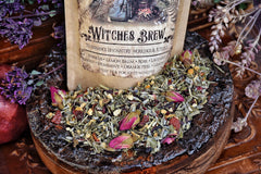 Witches Brew...Organic Herbal Loose Leaf Tea, Caffeine Free ~ Ritual Tea ~ Herbal Tea ~ Witchcraft, Pagan, Wicca ~ Moon Goddess Magick - Moon Goddess Magick Apothecary