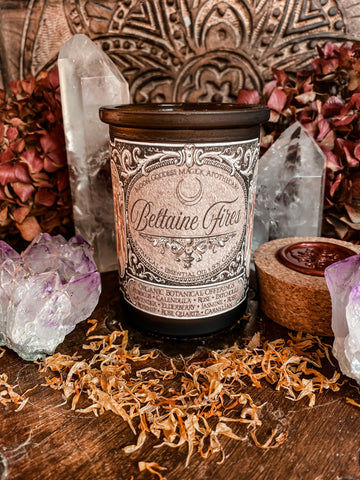 Beltaine Ritual Candle // Beltaine Fires // 6oz Candle // 30hr Burn