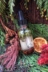 YULE OIL ~ Sacred Sabbat Oil ~ Winter Solstice~1oz bottle w/ Dropper~ Crystal Charged with Garnet~ Yule Oil ~ Ritual Oil ~ Witchcraft~ Pagan - Moon Goddess Magick Apothecary