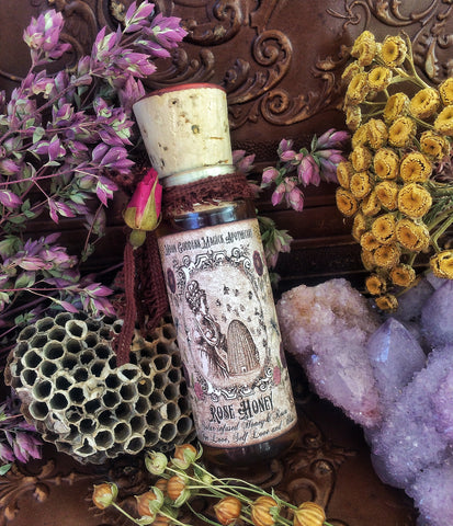 Rose Honey~ Organic Wildflower Honey~ Organic Wild Roses~ 1oz ~ Honey Magick~ Bee Magick ~ Bee Goddess~ Melissae ~ Limited Offering - Moon Goddess Magick Apothecary