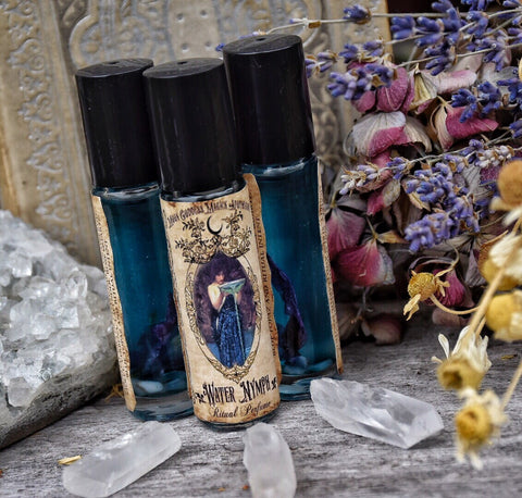 Water Nymph Oil~ Empath oil ~ Aura Protection~ Water Sign ~ Energy Booster ~ Melt away Stress and Anxiety ~ Heart Chakra - Moon Goddess Magick Apothecary