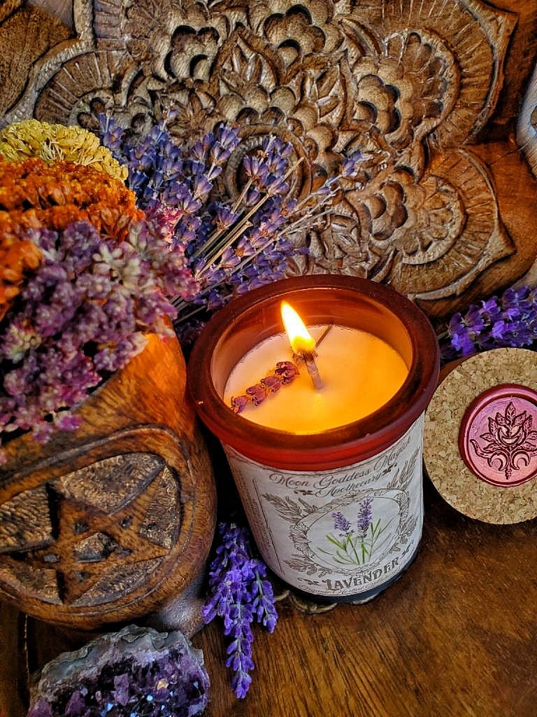 Lavender Spell Candle // Aromatherapy Candle //  Lavender Soy Candle // Promotes Rest and Relaxation // 35 Hour Burn // Large 6oz