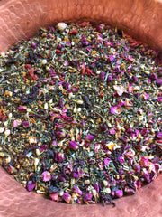 Venusian Beau-Tea /// Organic Herbal Tea For Beauty & Self-Love Rituals /// Good for Hair, Skin & Nails /// 8 oz glass Jar with Cork. - Moon Goddess Magick Apothecary