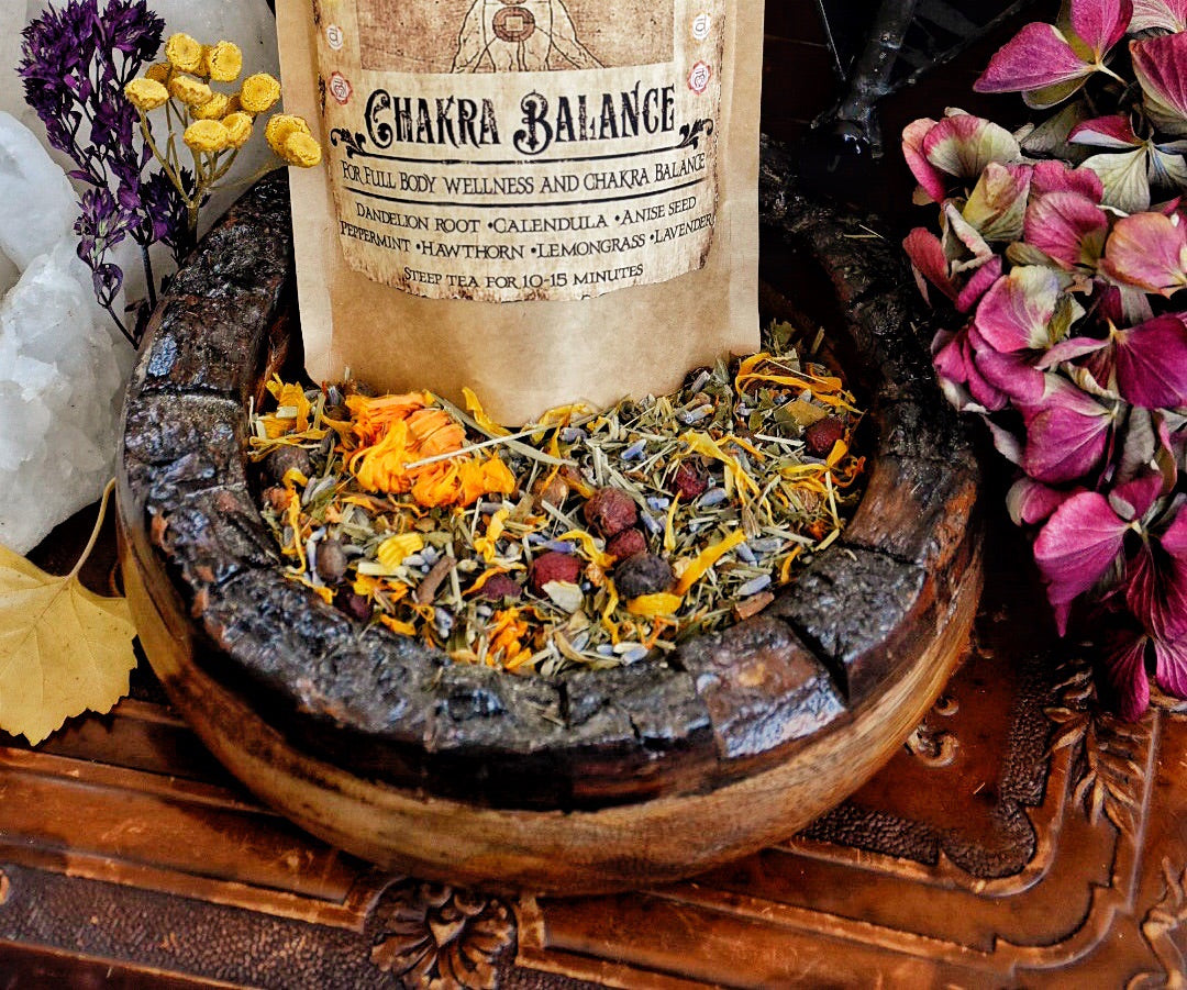 Chakra Balance Tea...Meditation Tea...Organic Herbal Tea..Makes 13-16 cups of delicious balancing Tea.. 2oz - Moon Goddess Magick Apothecary