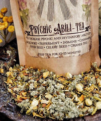 Psychic Abili-Tea...Organic Herbal Tea ~ Psychic Ability ~ Divination Tea ~ Lucid Dreaming Tea ~Psychic Awareness, Visions ~ Enhance your Magick - Moon Goddess Magick Apothecary