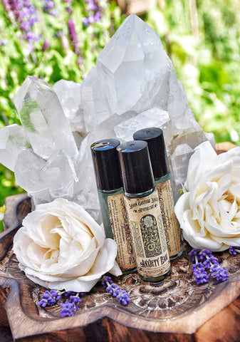 Anxiety Ease ~ On the Go Bottle~ Black Tourmaline Crystals - Moon Goddess Magick Apothecary