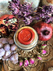 Persephone Clay Mask /// Rhassoul Clay, Pomegranate, Cranberry & Rose Powder // 3.5 OZ // 6-8 Beauty Masks // Organic Beauty - Moon Goddess Magick Apothecary