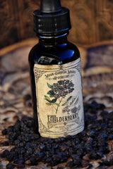 Elderberry Tincture~ Organic Herbal Extract~ Immune Boosting~ Cold and Flu Folk Remedy~ Elderberry Magick~ 1oz Drpper Bottle - Moon Goddess Magick Apothecary