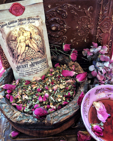 Aphrodisiac Tea ~ Ancient Aphrodisiac ~ Lover's Tea ~ Sexual Tonic~ Enhance Love Making Naturally~ Love Tea ~ Love Magick ~ Sex Magick - Moon Goddess Magick Apothecary
