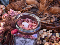 Sultry Seduction Bath Soak~ Evoke Passion ~ Inner Goddess ~ A Sultry Bath Blend~ Witchery ~ High Priestess~ Large 8oz Bottle - Moon Goddess Magick Apothecary