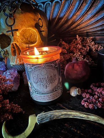 Samhain Candle // Offerings for the Beloved Dead // Spirit Communication  // 35 hour burn ~ 6oz