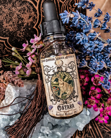 Ostara Incense~ Spring, Rebirth, New Life, Renewal~ Spring Equinox ~ Fertility Magick~ Witchcraft~ Wheel of the Year ~ 1oz bottle Organic - Moon Goddess Magick Apothecary