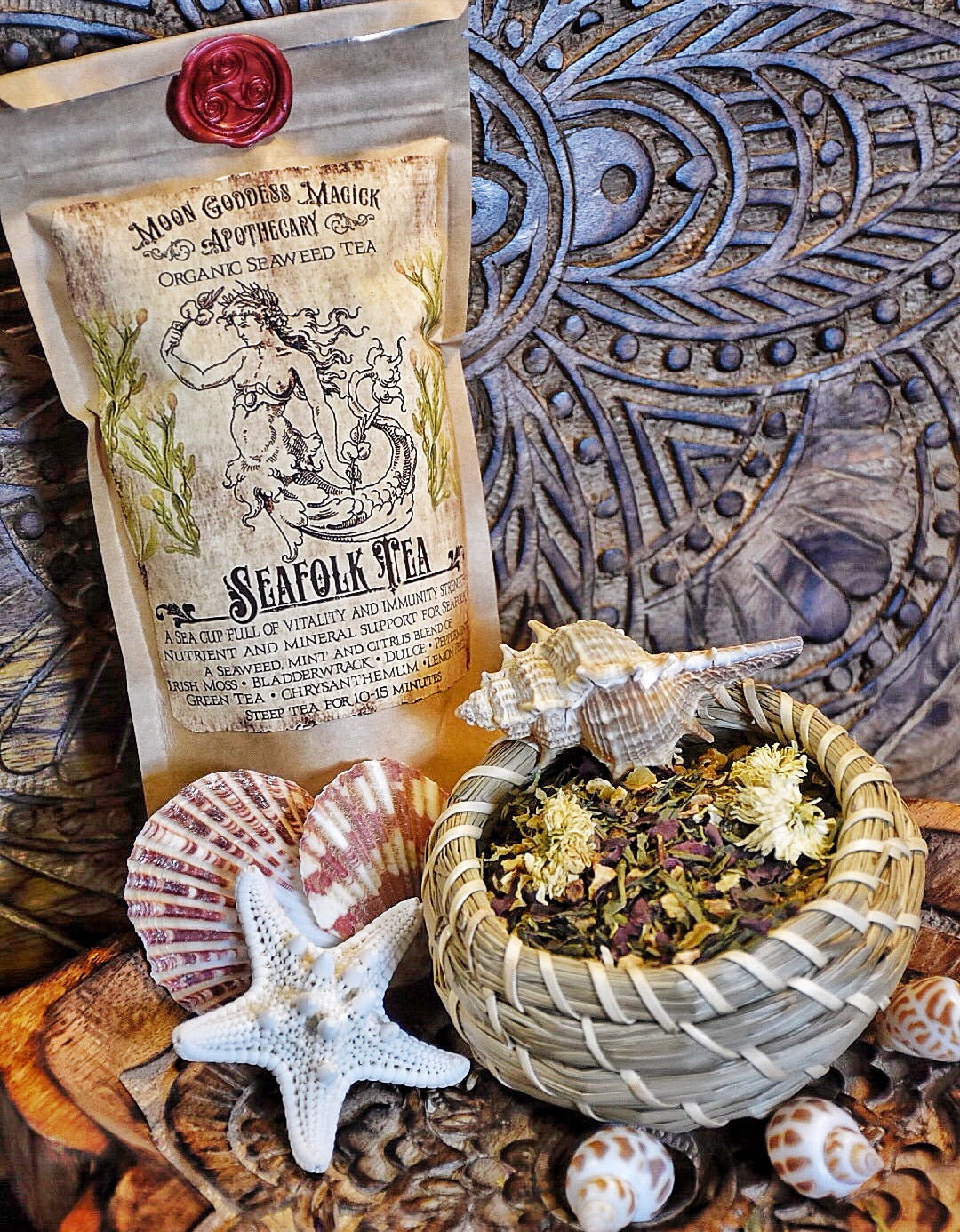 Seafolk Tea /// Seaweed Tea /// Organic /// Vitamin and Mineral rich for Optimal Health ///  Makes 9 cups of Tea - Moon Goddess Magick Apothecary