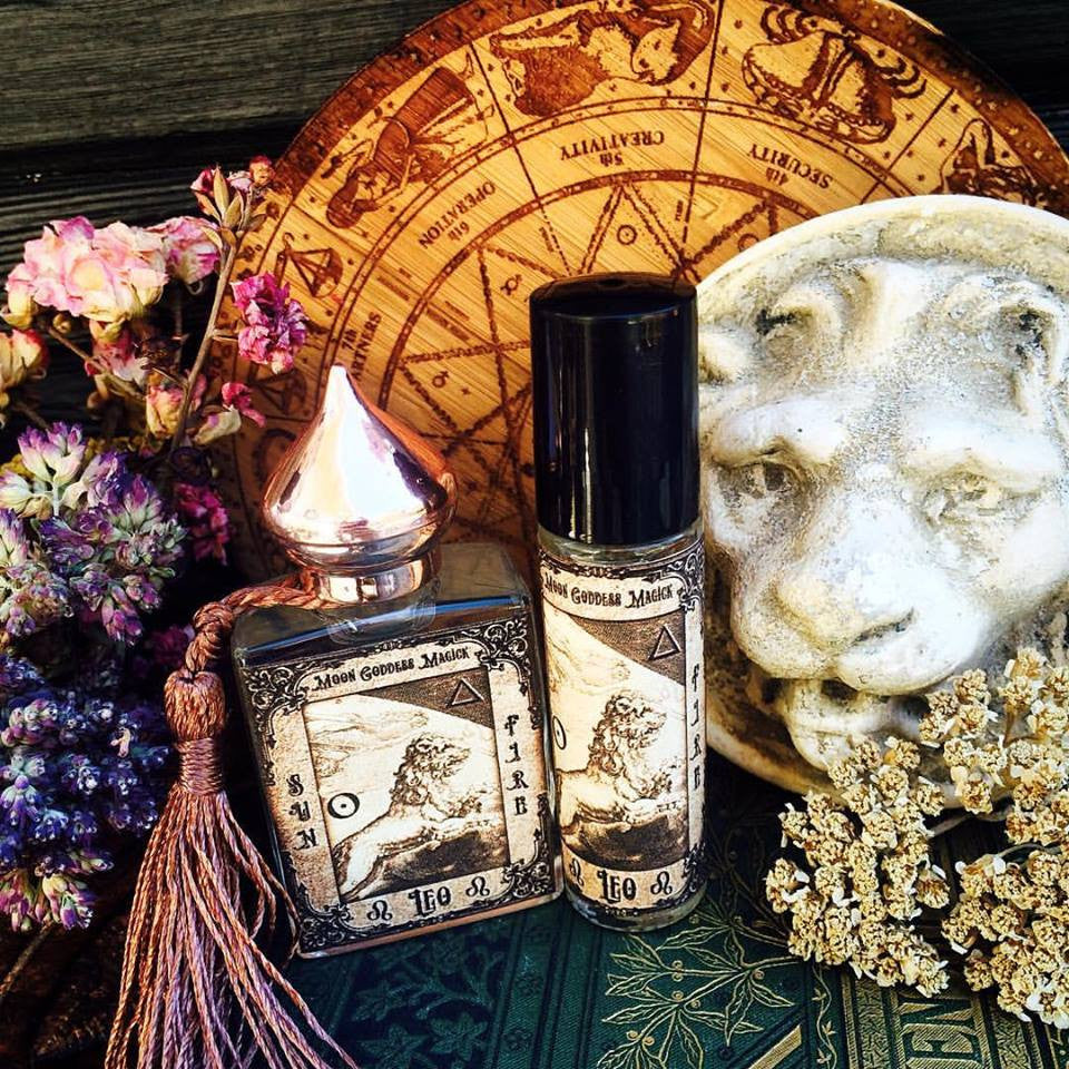 LEO Essential Oil ~July 23 - August 22~Creative~ Passionate~ Inventive ~ Sun and Fire Magick~ 1/3oz Roll On - Moon Goddess Magick Apothecary