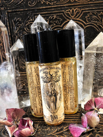 Luna Perfume Oil ~ La Luna ~ Moon Manifestations ~ Organic Perfume Oil~ Moon Ritual Oil~ Moon Magick~ Moon Oil~ Ancient Alchemy~ - Moon Goddess Magick Apothecary