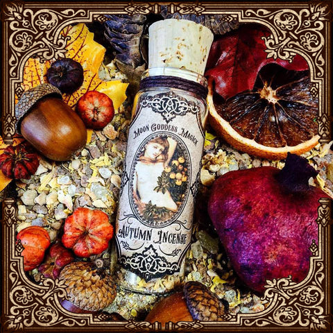 Autumn Incense ~ Mabon Incense ~ Autumn Equinox ~ Wheel of the Year ~ Pagan ~ Mabon Offering ~ Altar ~ Witchcraft ~ 1oz Ritual Incense - Moon Goddess Magick Apothecary