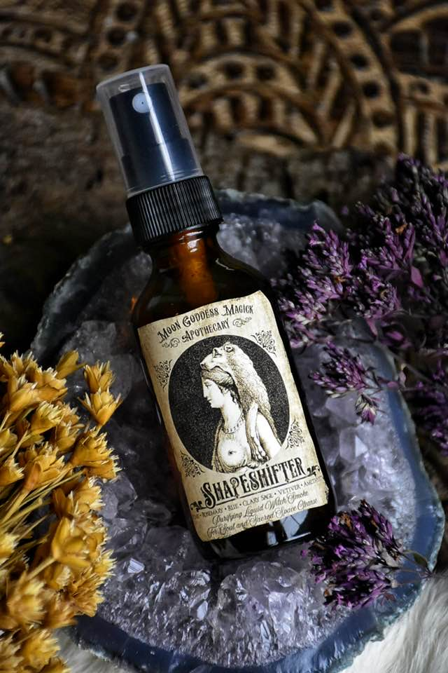 Shapeshifter ~ Purifying Liquid Witch Smoke ~ For Soul and Sacred Space Cleanse - Moon Goddess Magick Apothecary