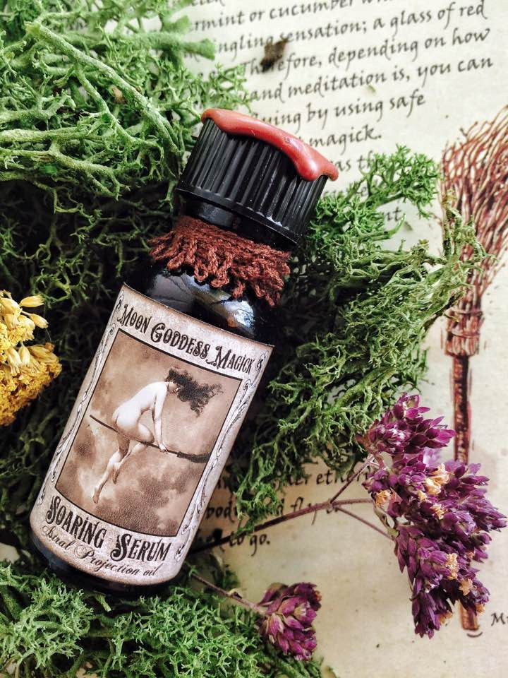 Soaring Serum~ ASTRAL PROJECTION ~ Jasmine, Sage, Cedarwood and Cocao, Mugwort, Vervain, Carnelian & Labradorite , Witchcraft, Pagan LUCID - Moon Goddess Magick Apothecary