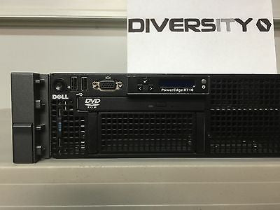 "Dell Poweredge R710 Intel E5502 Xeon 1.86GHz Dual Core 16GB RAM DVD 8x 2.5"" Bays"