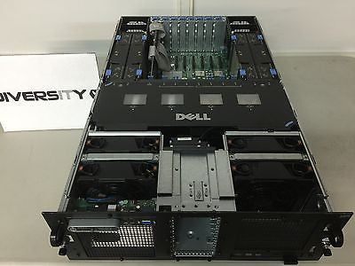 Dell Poweredge R900 Dual Intel Xeon E7440 2.4GHz Quad Core 32GB RAM DVD 8x Bays