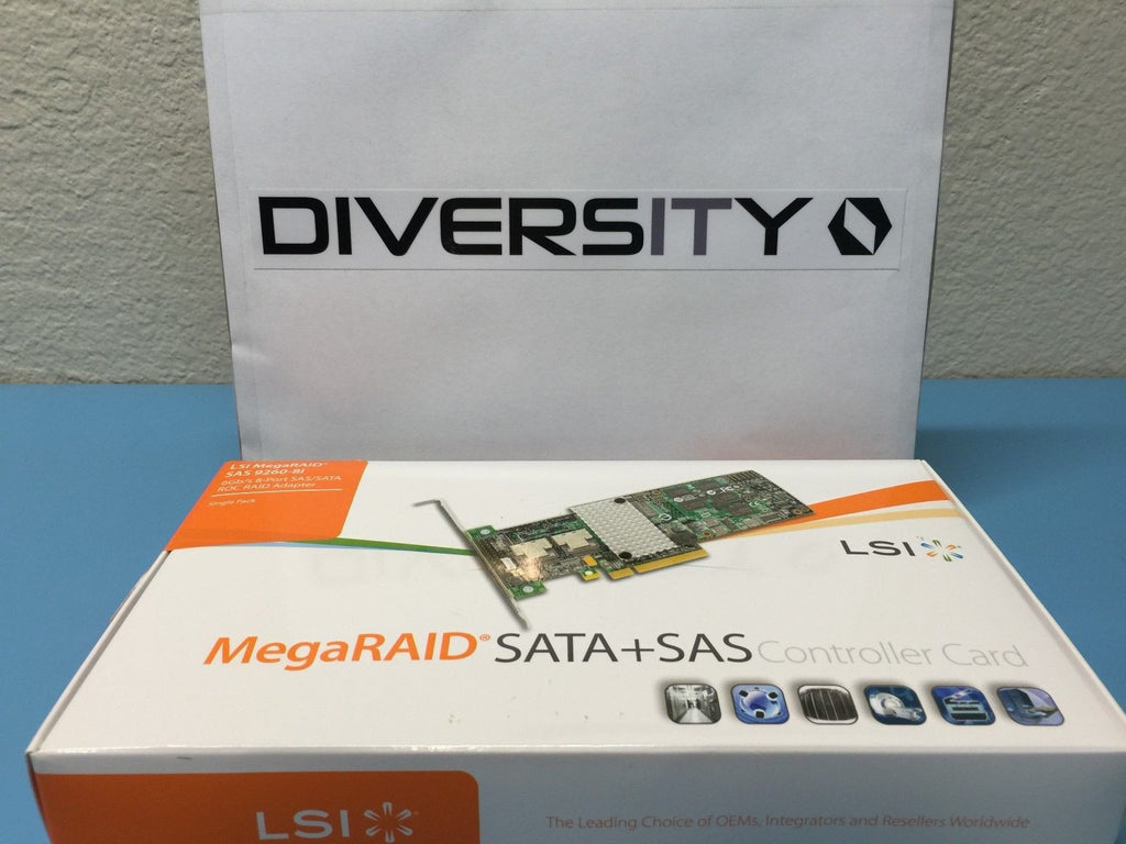 LSI MegaRAID SAS 9260-8i 6Gb/s 8-Port RAID Adapter *Brand NEW SEALED* LSI00198