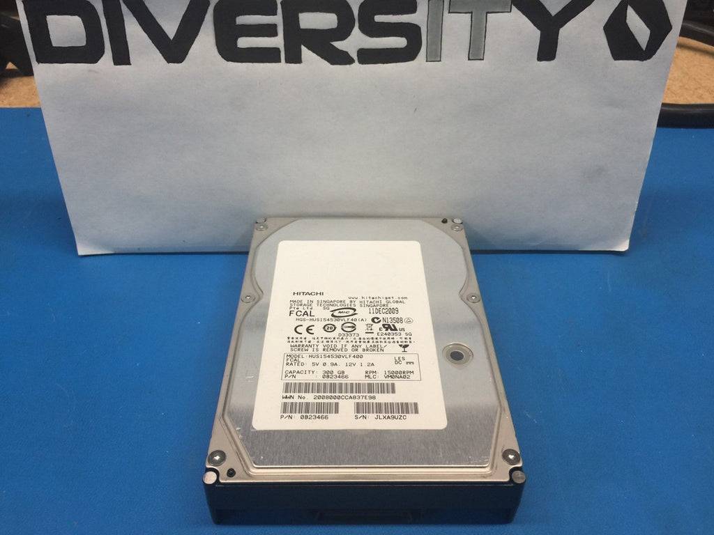 "Hitachi 300GB Fibre Channel 15K 3.5"" 0B23466 HUS154530VLF400 Replacement HDD"