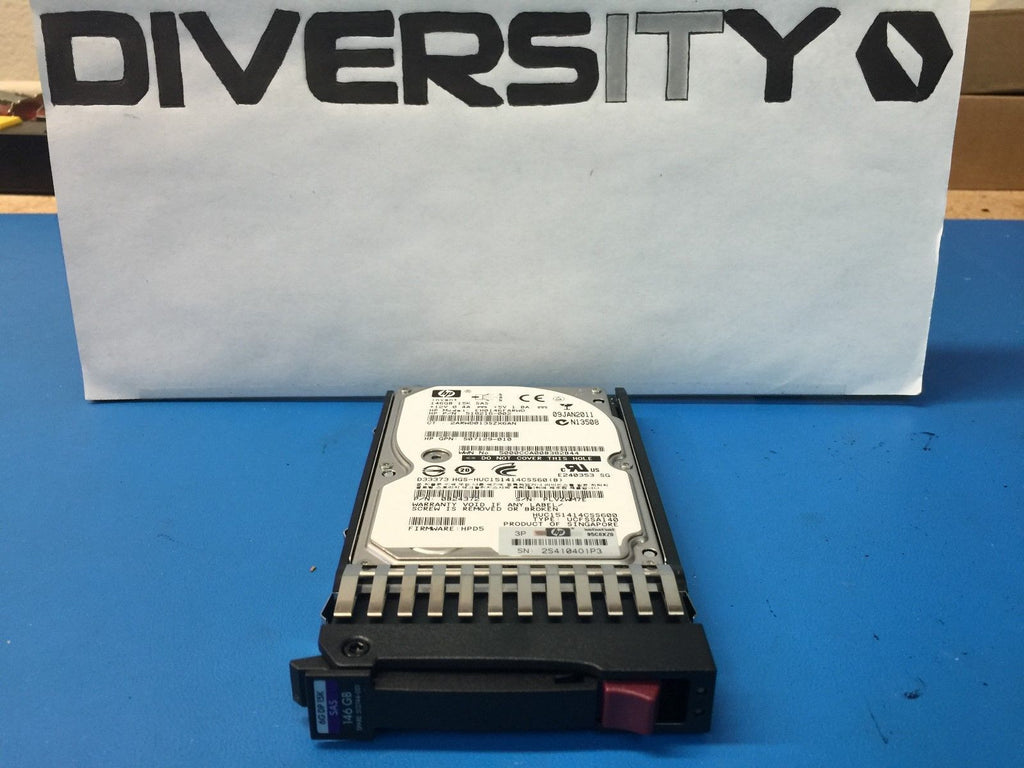 "HP SAS HotPlug 146GB 15K 2.5"" 512547-B21 512744-001 Replacement HDD w/ Caddy"