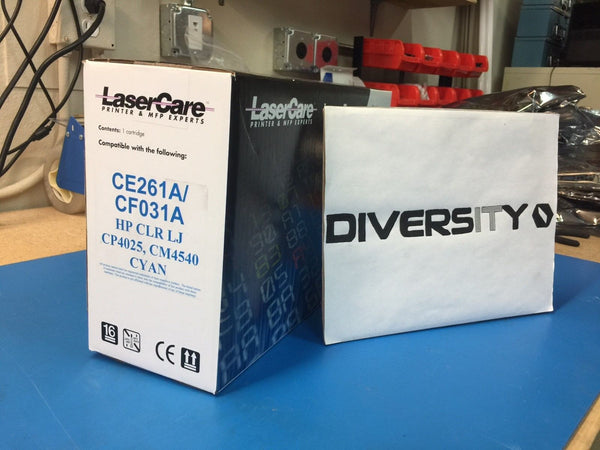 LaserCare HP Compatible Color LJ CP4025 CM4540 CE261A CF031A CYAN *BRAND NEW*