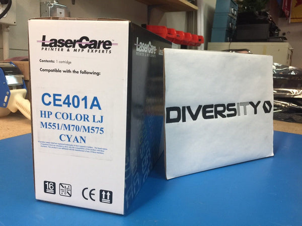 LaserCare HP Compatible Color LJ M551 M570 M575 MFP CE401A CYAN *BRAND NEW*