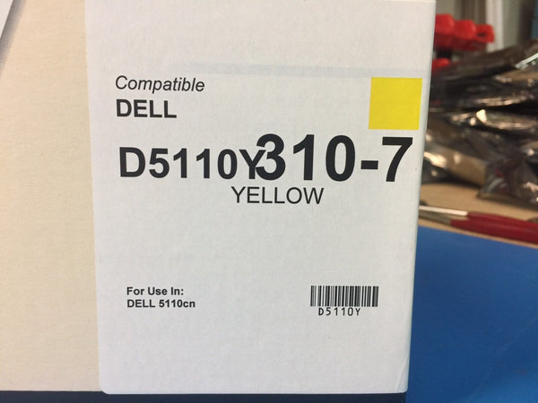 QLC Dell Compatible Toner For 5110cn D5110Y 310-7 YELLOW *BRAND NEW*