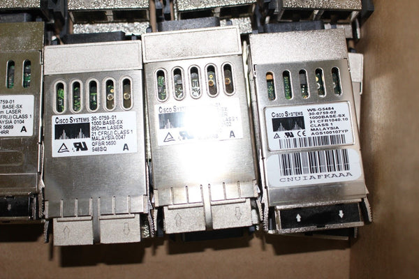 Cisco WS-G5484 30-0759-01 1000BASE-SX GBIC Transceiver Module Lot of 38