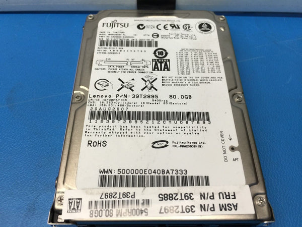 "Lenovo Fujitsu 80GB SATA 5400RPM 2.5"" (MHW2080BH) 39T2895 Replacement HDD"
